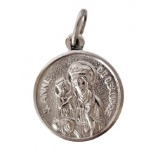 Silver St. Anne round medal