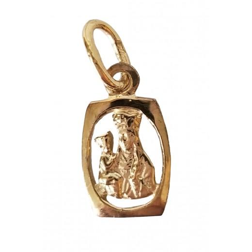 10 kt gold St. Anne medal