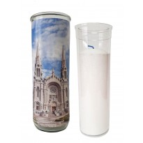 Vigil lantern glass cylinder with recharge - The Basilica