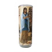 Vigil lantern glass cylinder - Kateri Tekakwitha