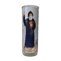 Vigil lantern glass cylinder - St. Charbel