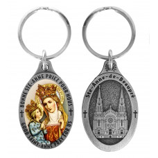 St. Anne key ring silvery tint