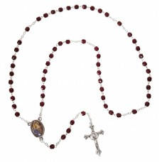St. Anne rosary - Dark red