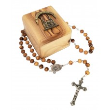Basilica olive wood box & Rosary