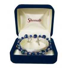 Murano glass single decade rosary bracelet