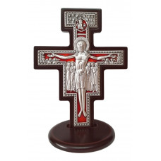 Crucifix on socle - St. Damien Cross