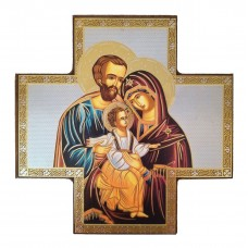 Holy Family cross - icône style