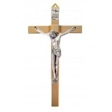 Metal crucifix - golden cross and silvery corpus