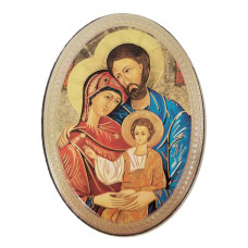 Wooden magnet - Holy Family image