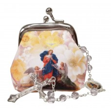 Mary who undo the knots rosary case & Rosary