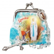Our Lady of Lourdes rosary case & Rosary