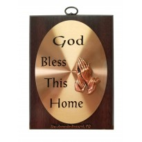 Plaque - God bless this home - English