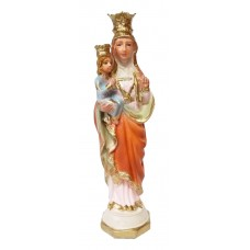 St. Anne holding little Mary 5 inches statue - Color