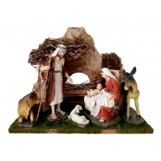 Christmas crib with figures