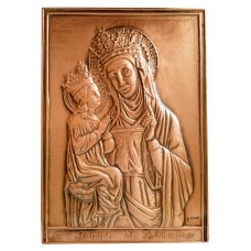 St. Anne copper embossed plaque